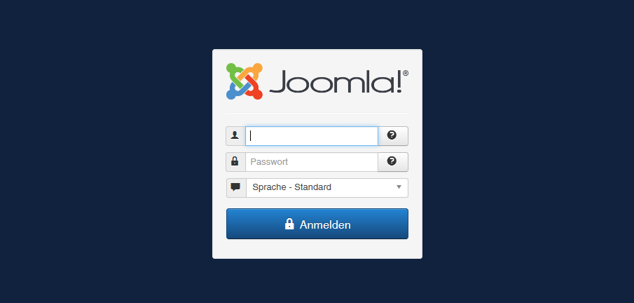 Joomla Backend Login